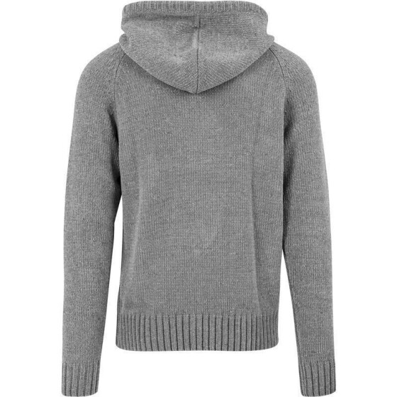 Urban Classics Chenille Hooded Sweater, grey XXL
