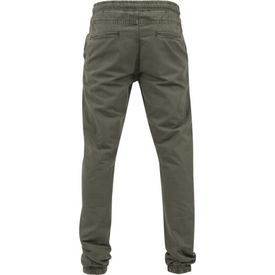 Urban Classics Washed Canvas Jogging Pants, olive S