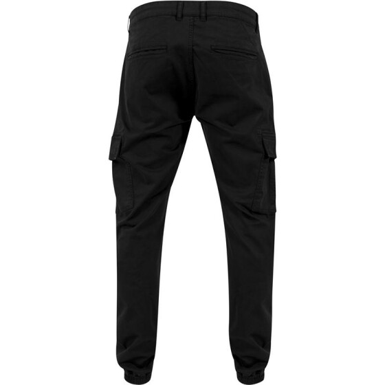 Urban Classics Washed Cargo Twill Jogging Pants, black 32