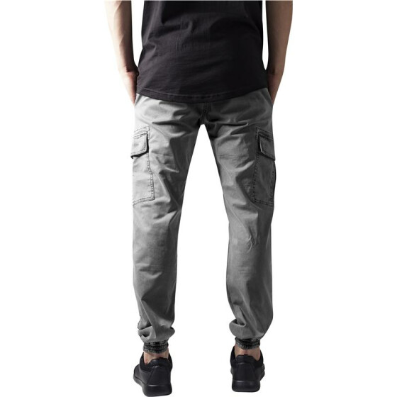 Urban Classics Washed Cargo Twill Jogging Pants, grey 30