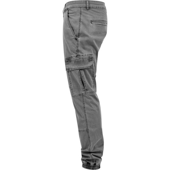 Urban Classics Washed Cargo Twill Jogging Pants, grey 38