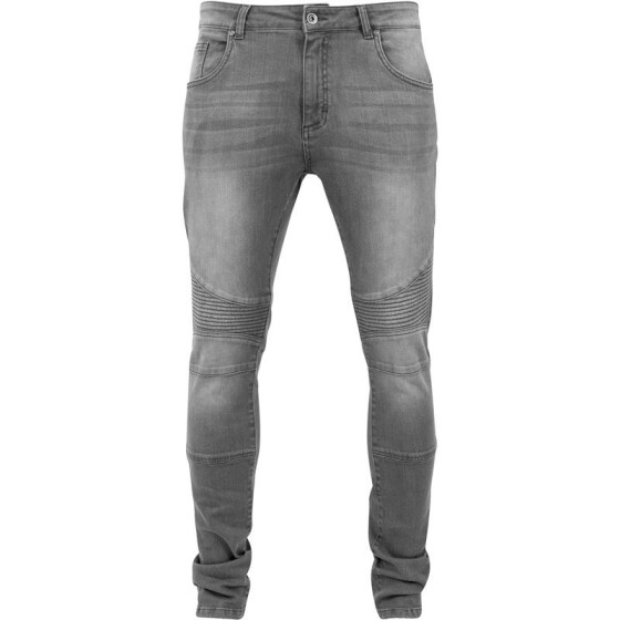 Urban Classics Slim Fit Biker Jeans, grey 36