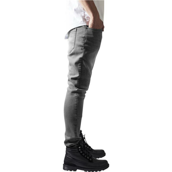 Urban Classics Slim Fit Biker Jeans, grey 38
