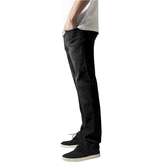 Urban Classics Stretch Denim Pants, black washed 34