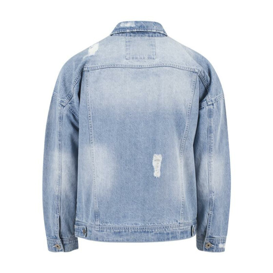 Urban Classics Ripped Denim Jacket, bleached XL