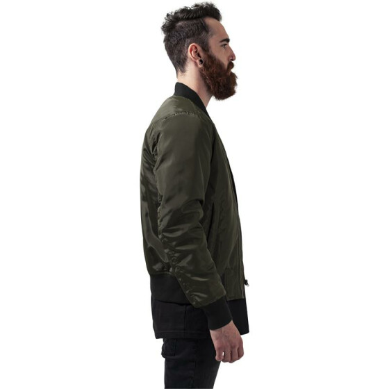 Urban Classics 2-Tone Bomber Jacket, darkolive/black XL