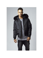 Urban Classics Hooded Basic Bomber Jacket, black XL
