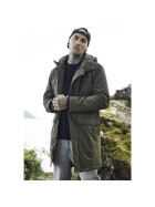 Urban Classics Cotton Peached Canvas Parka, olive S