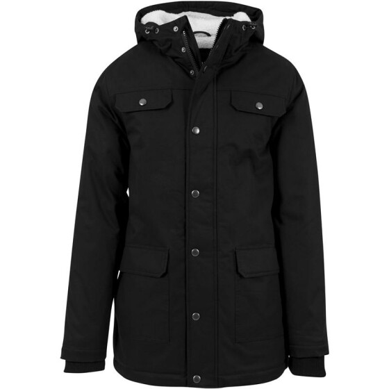 Urban Classics Heavy Cotton Parka, black XXL