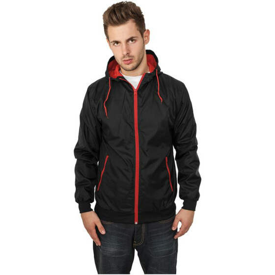 Urban Classics Contrast Windrunner, blk/red M