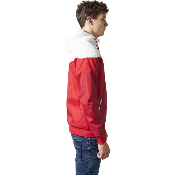 Urban Classics Arrow Windrunner, red/wht M