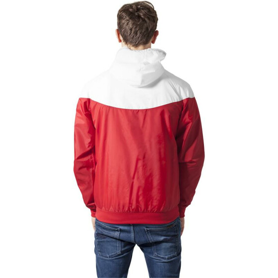 Urban Classics Arrow Windrunner, red/wht L
