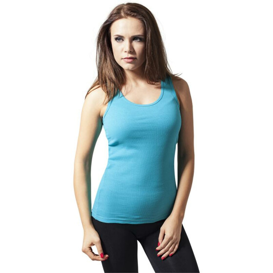 Urban Classics Ladies Tanktop, aqua XL