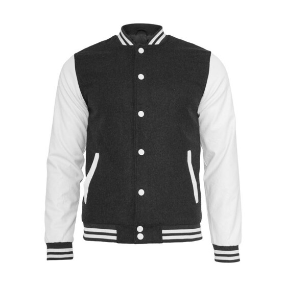 Urban Classics Oldschool College Jacket, cha/wht XL
