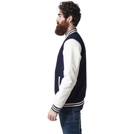 Urban Classics Oldschool College Jacket, nvy/wht M