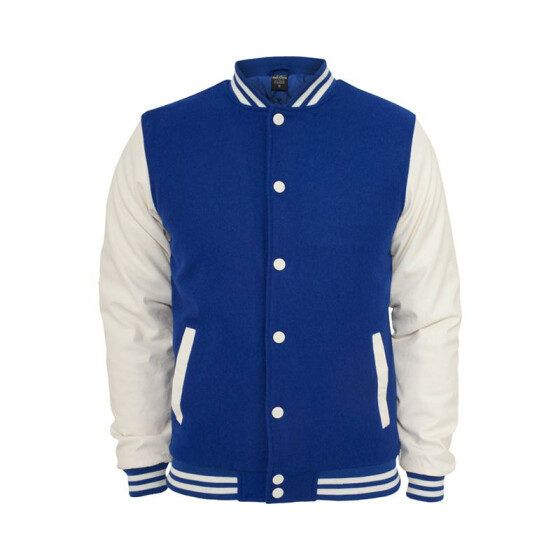 Urban Classics Oldschool College Jacket, roy/wht M