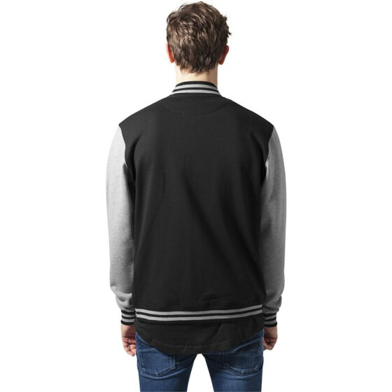Urban Classics 2-tone College Sweatjacket, blk/gry 3XL
