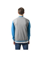 Urban Classics 2-tone College Sweatjacket, gry/tur 3XL