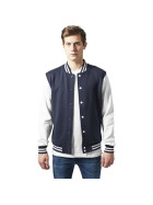 Urban Classics 2-tone College Sweatjacket, nvy/wht XL