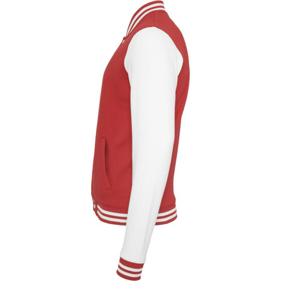 Urban Classics 2-tone College Sweatjacket, red/wht XS