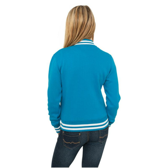 Urban Classics Ladies College Sweatjacket, turquoise XS