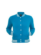 Urban Classics Ladies College Sweatjacket, turquoise XL