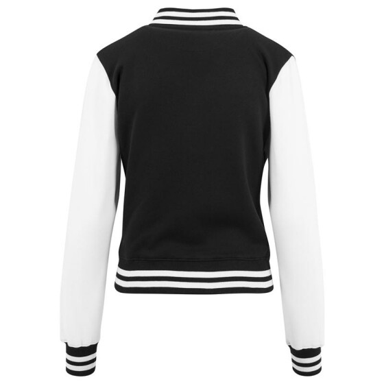 Urban Classics Ladies 2-tone College Sweatjacket, blk/wht M