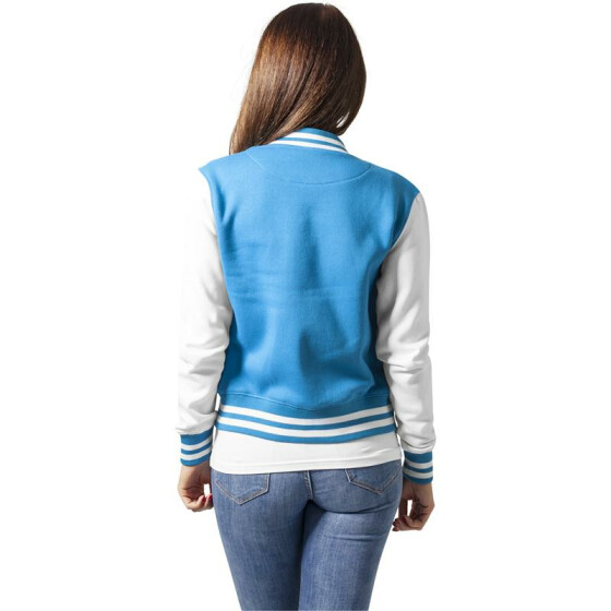 Urban Classics Ladies 2-tone College Sweatjacket, tur/wht XL