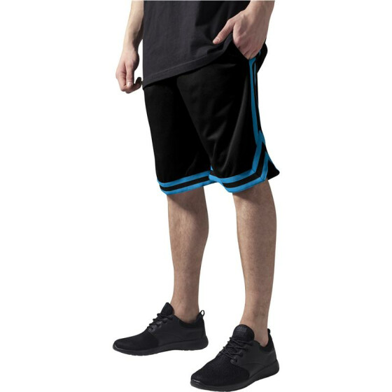 Urban Classics Stripes Mesh Shorts, blkturblk 3XL