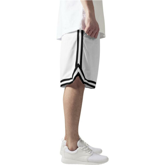 Urban Classics Stripes Mesh Shorts, whtblkwht XL