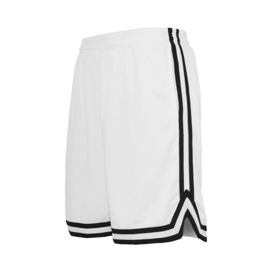 Urban Classics Stripes Mesh Shorts, whtblkwht 3XL