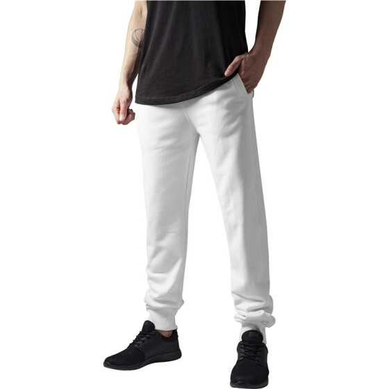 Urban Classics Straight Fit Sweatpants, white XXL