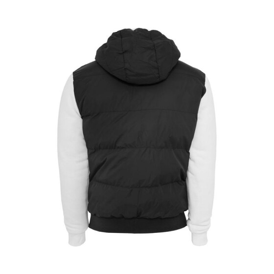 Urban Classics Sweat Nylon Bubble Zip Hoody, blk/wht M