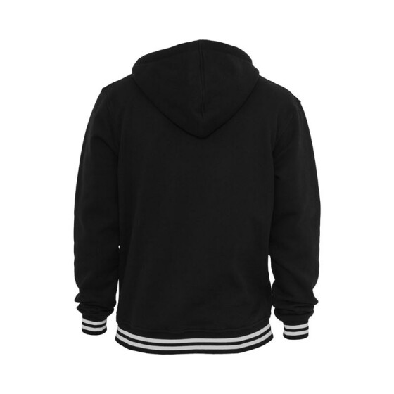 Urban Classics Hooded College Sweatjacket, blk/wht M