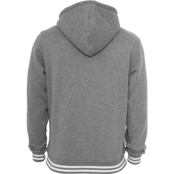 Urban Classics Hooded College Sweatjacket, gry/wht XXL