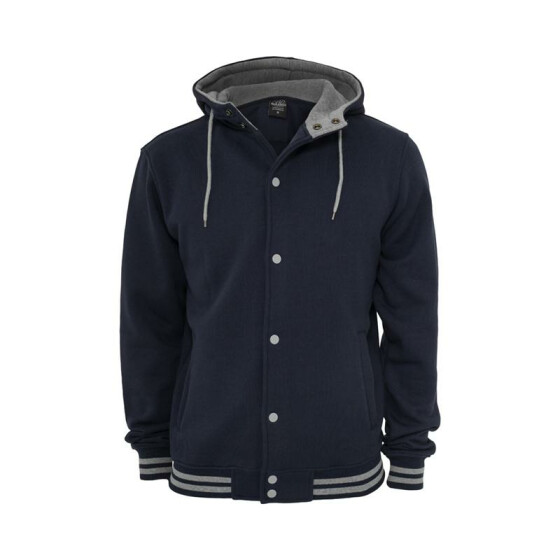 Urban Classics Hooded College Sweatjacket, nvy/gry 3XL