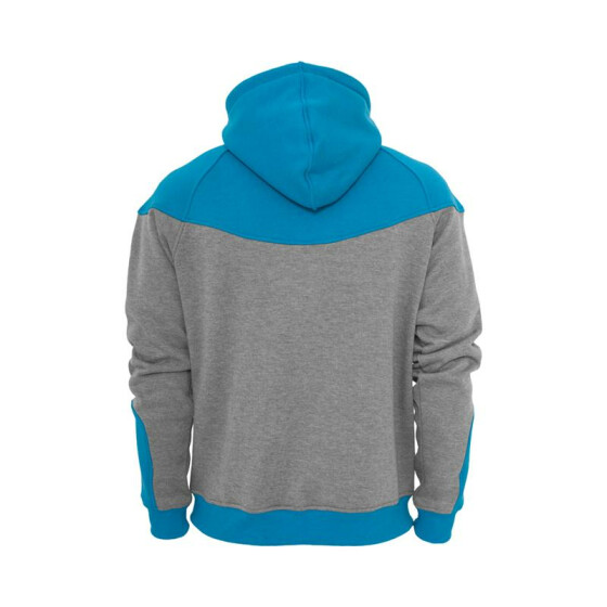 Urban Classics Arrow Sweat Zip Hoody, gry/tur M