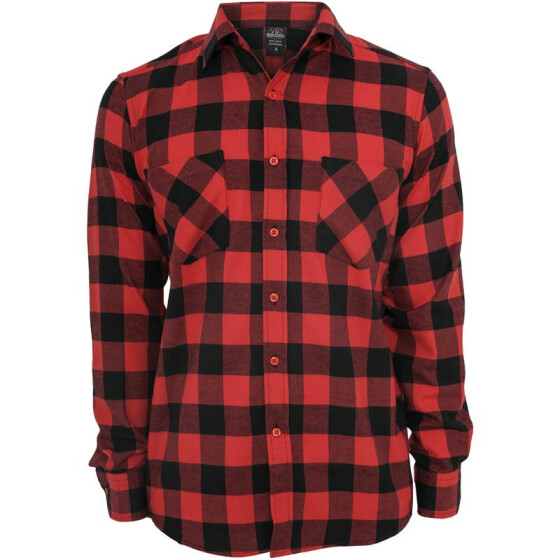 Urban Classics Checked Flanell Shirt, blk/red L