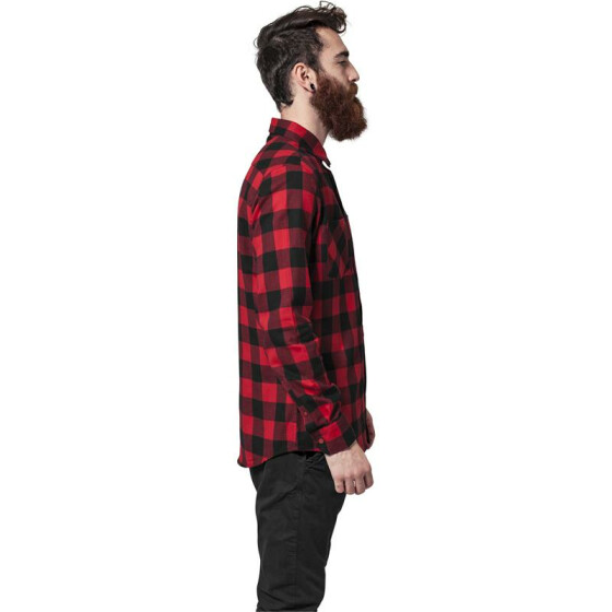 Urban Classics Checked Flanell Shirt, blk/red XL