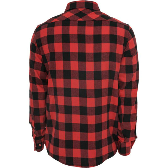Urban Classics Checked Flanell Shirt, blk/red XXL