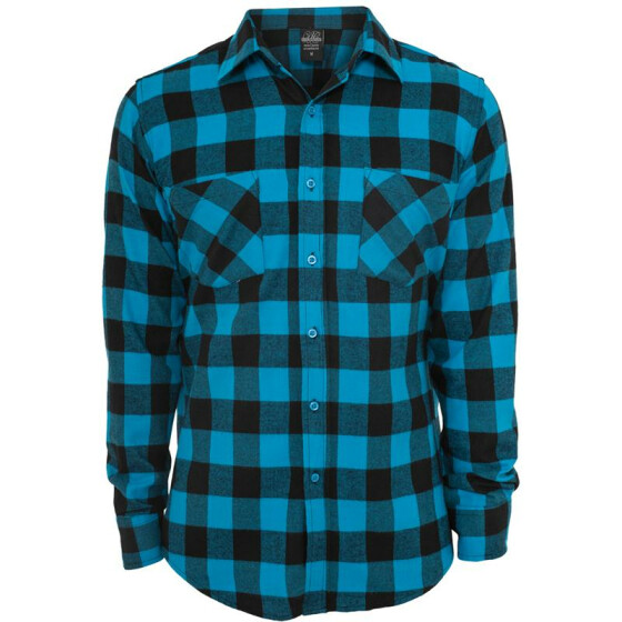 Urban Classics Checked Flanell Shirt, blk/tur M