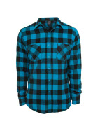 Urban Classics Checked Flanell Shirt, blk/tur L