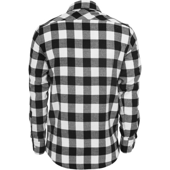 Urban Classics Checked Flanell Shirt, blk/wht M
