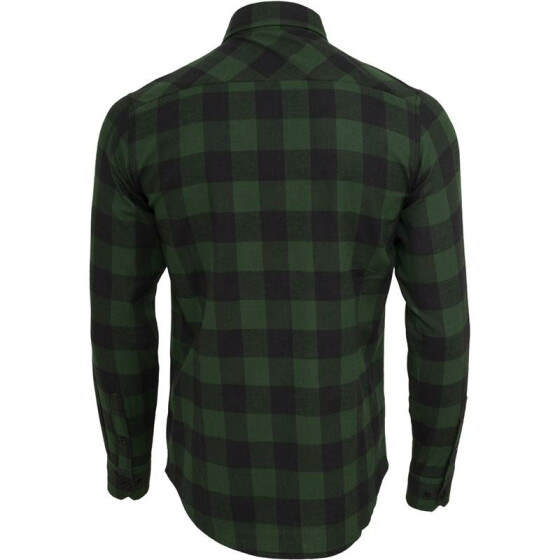 Urban Classics Checked Flanell Shirt, blk/forest L