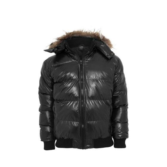 Urban Classics Hooded Bubble Fur Blouson, black S