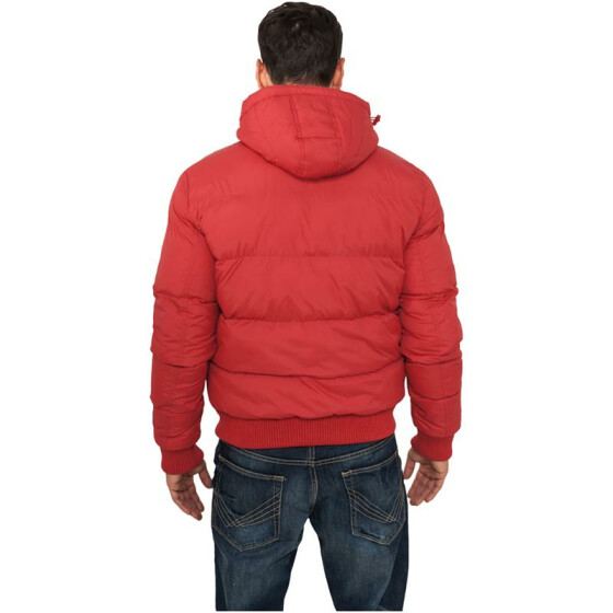 Urban Classics Hooded Bubble Blouson, red XL
