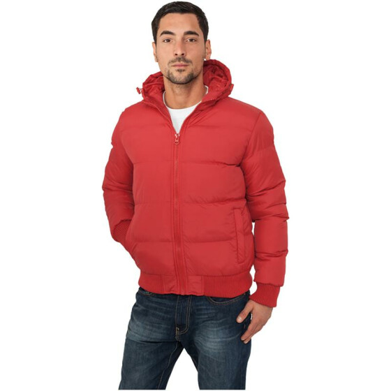 Urban Classics Hooded Bubble Blouson, red XXL