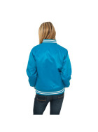 Urban Classics Ladies Shiny College Jacket, tur/wht XL