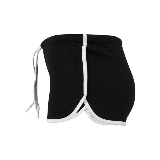 Urban Classics Ladies French Terry Hotpants, blk/wht S
