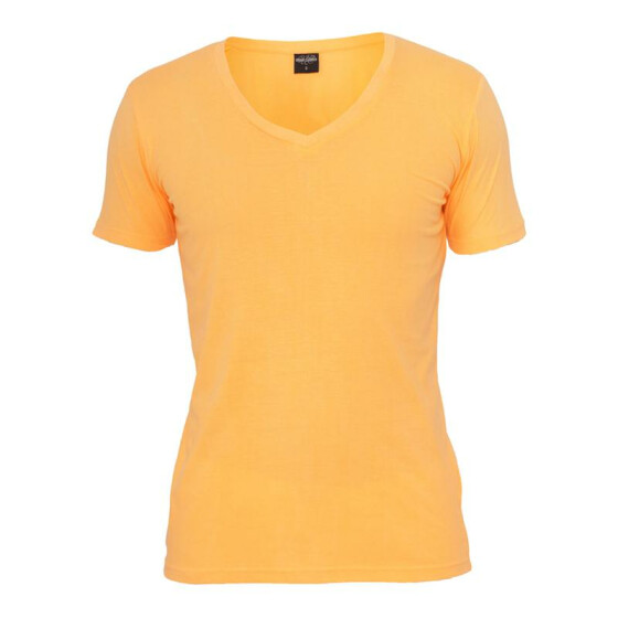Urban Classics Neon V-Neck Tee, orange M
